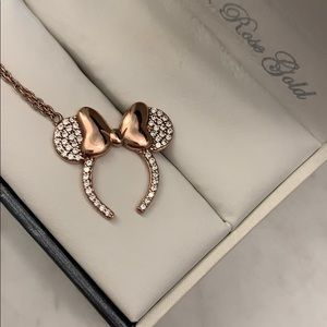Rose Gold Minnie Ears Necklace